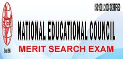 National Educational Council - 20th Merit Search Examination 2017