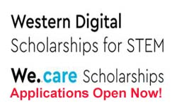 We.care Scholarships & Western Digital Scholarships for STEM