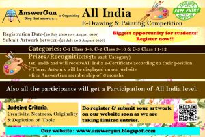 AnswerGun All India Online e-Drawing & Painting Contest 2020 for School Sstudents