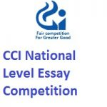 Competition Commission of India CCI NATIONAL LEVEL ESSAY COMPETITION 2019