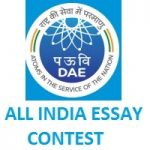 DEPARTMENT OF ATOMIC ENERGY - 31ST ALL INDIA ESSAY CONTEST ON NUCLEAR SCIENCE & TECHNOLOGY