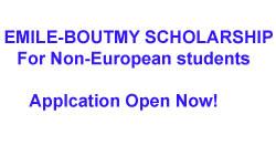 Emile-Boutmy scholarship