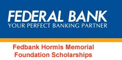 Federal Bank Hormis Memorial Foundation Scholarships