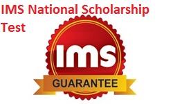 IMS National Scholarship Test 2018