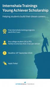 Internshala Trainings Young Achiever Scholarship