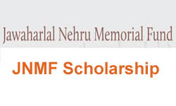Jawaharlal Nehru Memorial Fund Scholarships