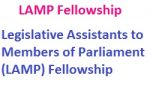 Legislative Assistants to Members of Parliament (LAMP) Fellowship