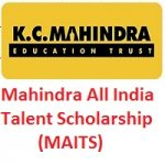 Mahindra All India Talent Scholarship-MAITS 2019