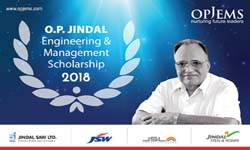 O.P. Jindal Engineering and Management Scholarships