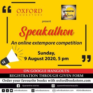 Oxford Bookstore and Quarantine Stories Present Speakathon Extempore Competition