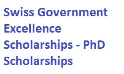Swiss Government Excellence Scholarships - PhD Scholarships