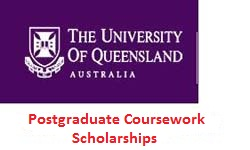 University of Queensland Postgraduate Coursework Scholarships