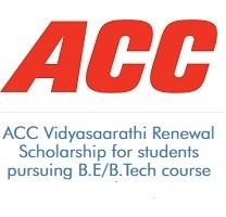 ACC Vidyasaarathi Renewal Scholarship for students pursuing B.E/B.Tech course (2020-2021)