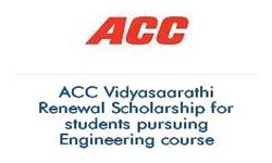 ACC Vidyasaarathi Renewal Scholarship for students pursuing Engineering course