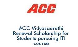 ACC Vidyasaarathi Scholarship for Students pursuing ITI Course