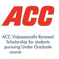 ACC Vidyasaarathi Renewal Scholarship for students pursuing Under Graduate course 2020-2021