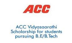 ACC Vidyasaarathi Scholarship for students pursuing BE BTech