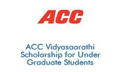 ACC Vidyasaarathi Scholarship for Under Graduate Students