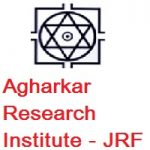 Agharkar Research Institute JUNIOR RESEARCH FELLOW