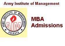 Army Institute of Management Kolkata MBA Admission 2019