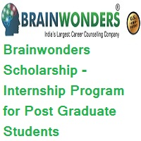 Brainwonders Scholarship - Internship Program for Post Graduate students