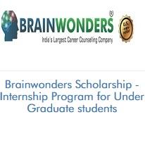Brainwonders Scholarship - Internship Program for Under Graduate students