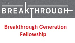 Breakthrough Generation Fellowship 2019