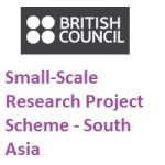 British Council Small-Scale Research Project Scheme - South Asia