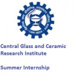 Central Glass and Ceramic Research Institute Summer Internship