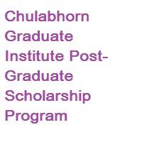 Chulabhorn Graduate Institute Post-Graduate Scholarship Program