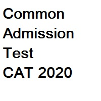 Common Admission Test CAT 2020
