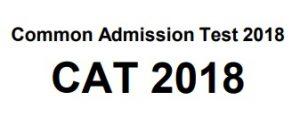 Common Admission Test - CAT 2018