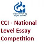 Competition Commission of India National Level Essay Competition