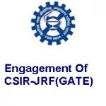 CSIR-Central Mechanical Engineering Research Institute Engagement Of CSIR-JRF(GATE)