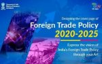 Designing the cover page of Foreign Trade Policy 2020-2025
