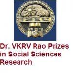 Dr.VKRV Rao Prizes in Social Sciences Research