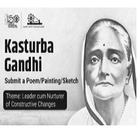 Express Kasturba Gandhi contribution through Poems, Paintings and Sketches