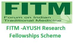 FITM -AYUSH Research Fellowships Scheme