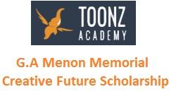 G.A.Menon Memorial Creative Future Scholarship