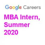 Google MBA Intern Summer 2020