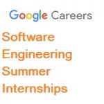 Google Software Engineering Intern-Summer internships