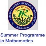Harish-Chandra Research Institute Summer Programme In Mathematics
