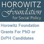 Horowitz Foundation Grants For PhD or DrPH Candidates