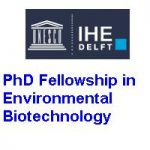IHE Delft PhD Fellowship in Environmental Biotechnology