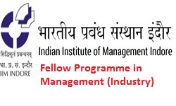IIM Indore Fellow Programme in Management (Industry)