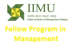 IIM Udaipur Fellow Program In Management