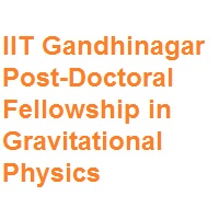 IIT Gandhinagar Post-Doctoral Fellowship in Gravitational Physics