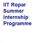 IIT Ropar Summer Internship Programme