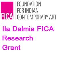 Ila Dalmia FICA Research Grant 2020 - The Foundation for Indian Contemporary Art