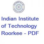 Indian Institute of Technology Roorkee | Department of Chemistry | PDF